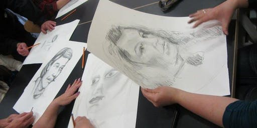 Drawing workshop, motivated by the drawing on the right side of the brain book