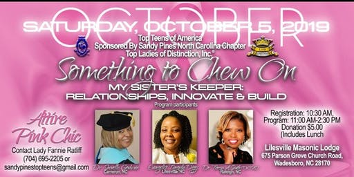 My Sister's Keeper: Relationships, Innovate & Build