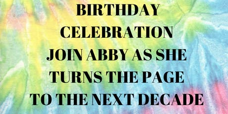 TURN THE PAGE BIRTHDAY CELEBRATION tickets