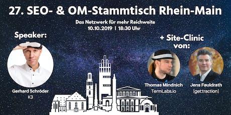 27. SEO- & OM-Stammtisch Rhein-Main in Darmstadt tickets