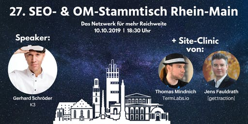 27. SEO- & OM-Stammtisch Rhein-Main in Darmstadt