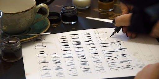 Modern Calligraphy Workshop at Sew Confident, Chorley.