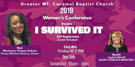 Greater Mt Carmel BC. 2019 Women's Conference tickets