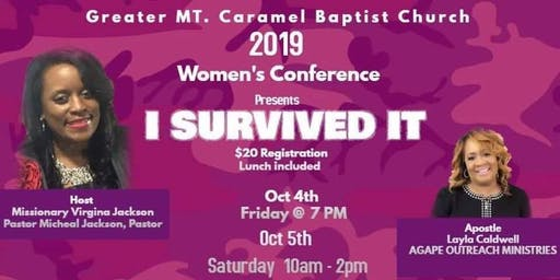 Greater Mt Carmel BC. 2019 Women's Conference