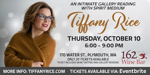 Intimate Gallery Reading  with Tiffany Rice at 1620 Wine Bar