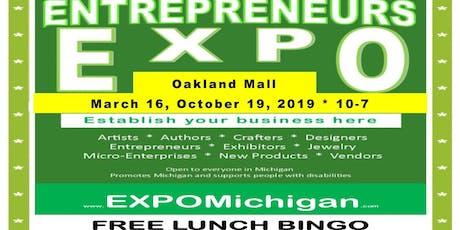 Entrepreneurs EXPO, October 19, Oakland Mall, center hall   (sj) tickets