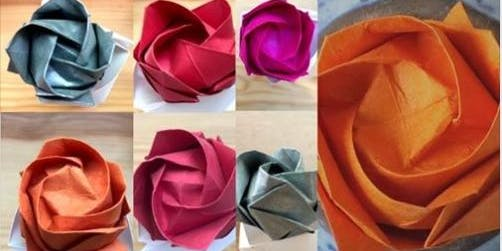 Origami workshop - How to fold Kawasaki rose