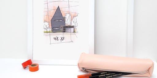 Workshop huisportret maken met Carla Kamphuis