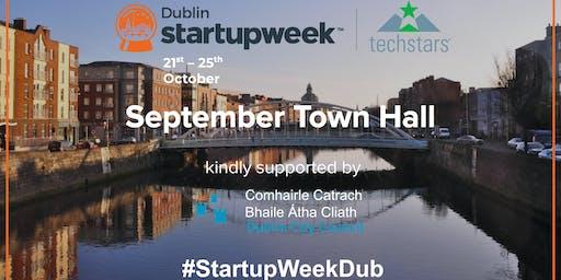 Startup Week Dublin September Town Hall Information Evening