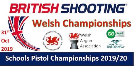 WELSH Schools Pistol Championships 2019/20 tickets