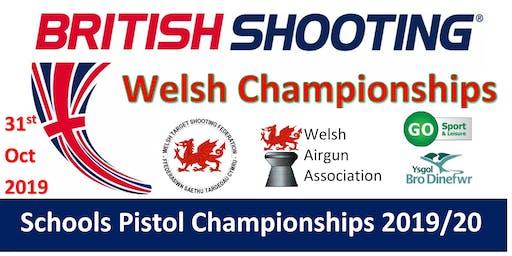 WELSH Schools Pistol Championships 2019/20