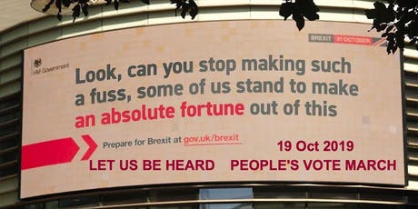 """""""Let Us Be Heard"""" People's Vote March tickets"""
