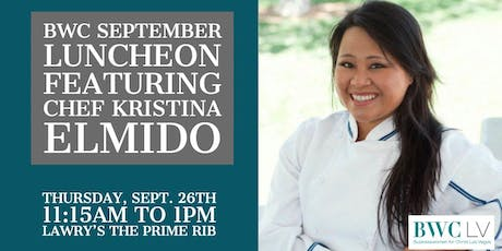 BWC SEPTEMBER LUNCHEON FEATURING CHEF KRISTINA tickets