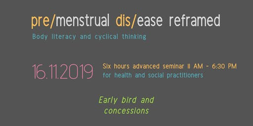 pre/menstrual dis/ease for health and social practitioners