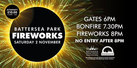 Wandsworth Council's Battersea Park Fireworks 2019 tickets