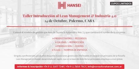 Taller Introductorio al Lean Management & Industrias 4.0. entradas