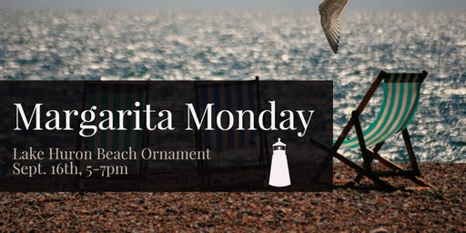 Lake Huron Beach Ornament - Margarita Monday