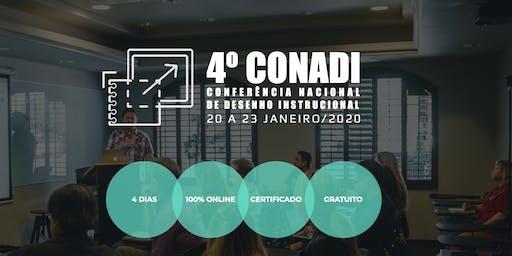 4o. CONADI - Conferência Nacional de Desenho Instrucional