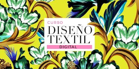 DISEÑO TEXTIL DIGITAL - Miércoles 16/10, 23/10, 30/10 y 6/11 de 19 a 21hs entradas