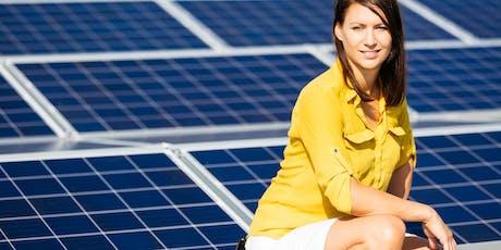 Photovoltaik-Workshop mit Cornelia Daniel am 15. November 2019 tickets