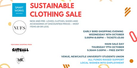 Smart Works Newcastle Sustainable Clothing Sale - PRE-SHOPPING EVENT tickets