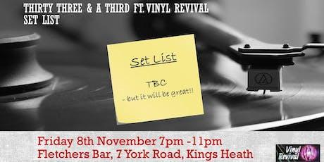 33 & a Third - Classic Albums at Fletchers Bar ft. Vinyl Revival tickets