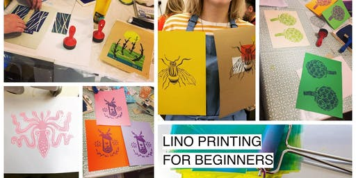 Lino Printing for Beginners - Glasgow Craft Workshop