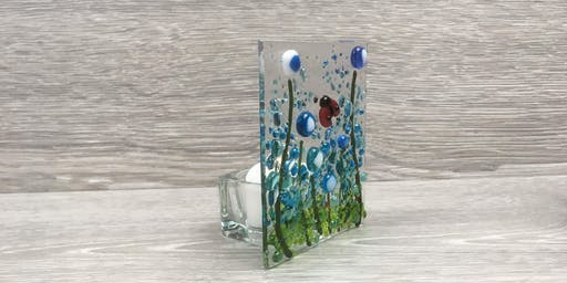 Fused Glass Tealight Holders - A Set of Three