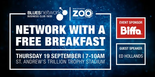 Blues Network Business Club Breakfast Event Sponsored by Biffa Waste
