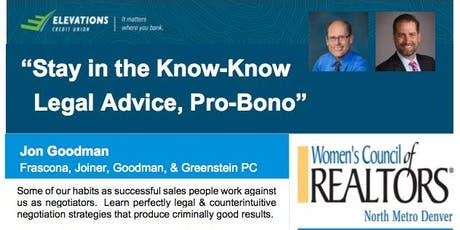 Stay in the Know-Know; Legal Advice, Pro-Bono tickets