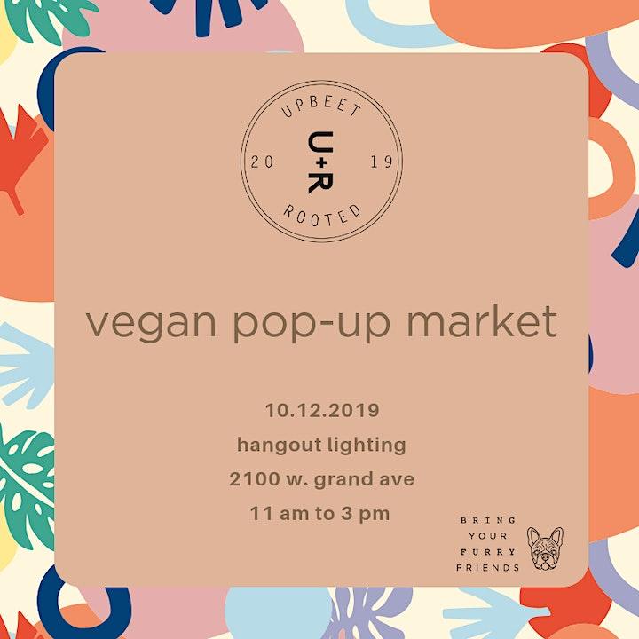 upbeet + rooted vegan pop-up market image