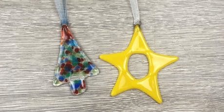 Fused Glass Christmas Decorations. tickets