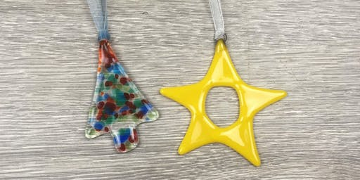 Fused Glass Christmas Decorations.