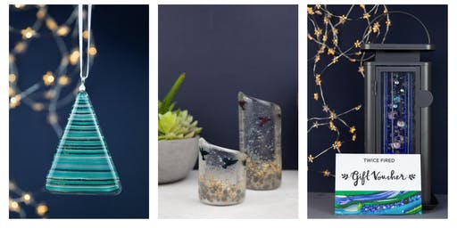 Christmas Fused glass workshop Sunday 8th Dec 12-2pm Mulled wine, prosecco and mince pies