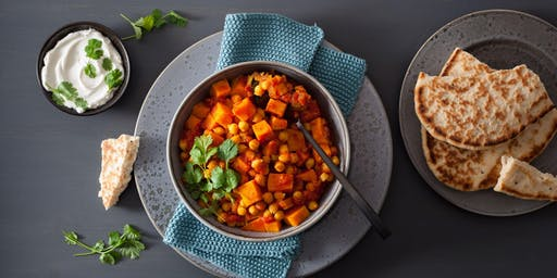 Budget Cooking at the Co-op: Crispy Spiced Chickpea & Roasted Carrot Bowl