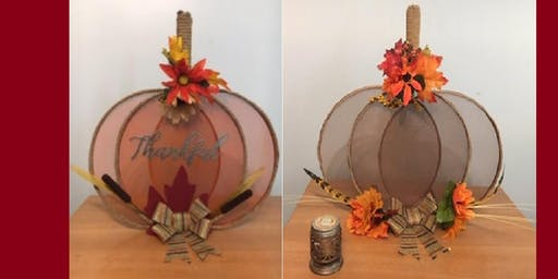 FLORAL PUMPKIN DECOR CRAFT EVENT