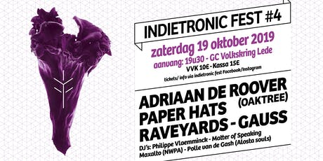 INDIETRONIC FEST #4   GAUSS-RAVEYARDS-PAPER HATS-ADRIAAN DE ROOVER tickets