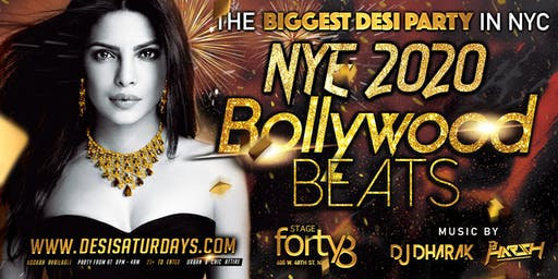 Desi New Years Eve 2020 - Bollywood Beats @ Stage48 NYC
