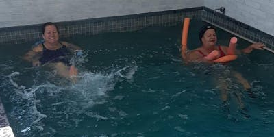 Aula experimental de water pilates