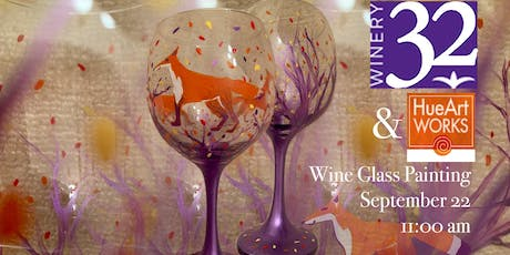 Sip & Paint on Wine Glasses with Winery 32 and HueArt Works tickets