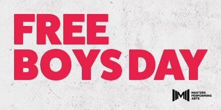 MASTERS FREE BOYS DAY - SUNDAY 19TH JANUARY 2020