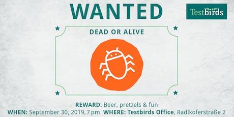 Bug Hunting @ Testbirds Tickets