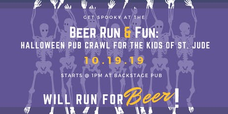 Beer Run & Fun: Halloween Pub Crawl for the Kids of St. Jude tickets