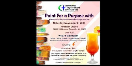 Sip and Paint for a Purpose with Community Improvement & Development, Inc tickets
