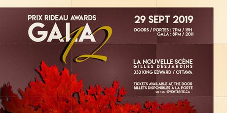 12th Prix Rideau Awards Gala / 12e Gala des Prix Rideau Awards tickets