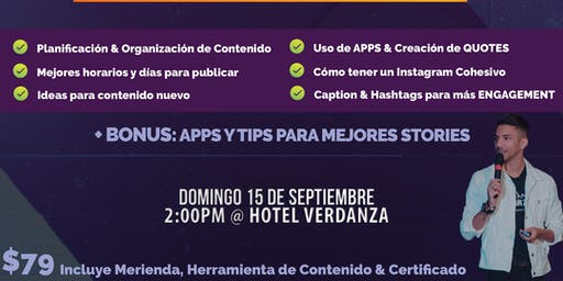 Social Media Masterclass PRO | CONTENIDO | Sept 15