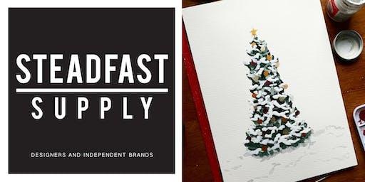 DIY Workshop | Painting Watercolor: Christmas Trees