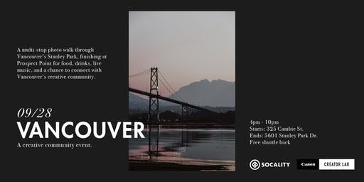 Socality x Canon Creator Lab: Vancouver Community Event