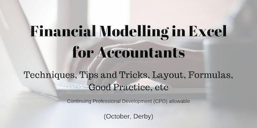 Financial Modelling in Excel for Accountants (October, Derby)