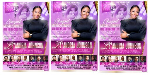 Gospel Music/Comedy Good For The Soul Event  Vol  1 with Leandria Johnson